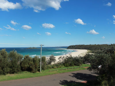 View from the house to Manyana Beach